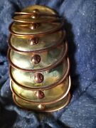 Vintage Maya Mexico Brass And Copper Armadillo Bracelet 50s 6.5 H. Aguilar
