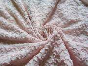 Baby Pink Squiggles Texturized Vintage Chenille Bedspread Quilt Fabric Piece 2
