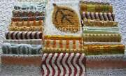 Earthtones Hippie Chenille Quilt Squares Set From Vintage Bedspread Fabric 6