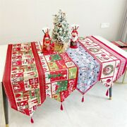 Table Runner Christmas Seasonal Table Cover Kitchen Dining Party Decorations