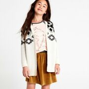 Nwt L 8-10 Tea Collection Girls Cardigan Sweater Button Front Long Sleeve