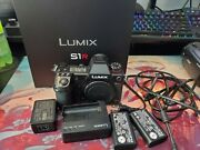 Panasonic Lumix Dc-s1r 47.3mp Original Box And Accessories With Extra Battery