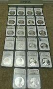1986 To 2007 American Silver Eagle Proof 69