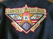 Large 90s Vintage National Finals Rodeo Las Vegas Jacket With Pins 1996 Rare