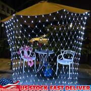 Led String Fairy Net Lights Curtain Mesh Christmas Party Outdoor Indoor Decor
