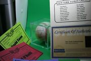 Ny Yankees Autographed 100th Anniversary Baseball 21 Players Steiner Coa