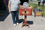 Rare Model And Size Vintage Sunoco Gasboy Clock Face Gas Pump Gas Station Sign