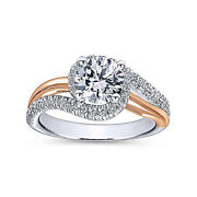 Round 0.90 Ct Real Diamond Engagement Ring Solid 14k Multi Tone Gold Size 6 7 8