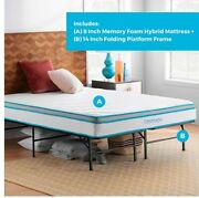 Linenspa 8 To12 Inch Memory Foam And Innerspring Hybrid All Sizes Mattress Only