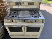 Vintage 1940's O'keefe And Merritt Double Oven With Griddle. Needs Work