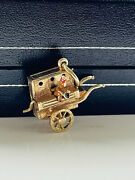 9ct Gold Vintage Articulated Organ Grinder And Enamelled Monkey Charm