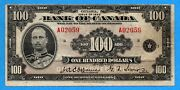 100 1935 Bank Of Canada Note English Text Bc-15 - Very Fine