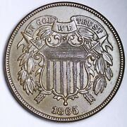 1865 Two Cent Piece Choice Unc Uncirculated Ms Free Shipping E150 Jfm