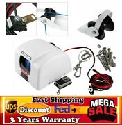 25lbs Saltwater Boat Marine Electric Windlass Anchor Winch+wireless Remote White