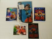 Wreck-it Ralph And Ralph Breaks The Internet Blu-ray/dvd And Messenger Bag And 2 Cards