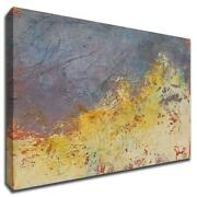 Aerial By Patrick Dennis 47 X 24 Wall Art Print On Canvas Yellow - Ready To Hang