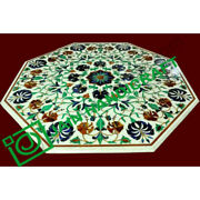 42and039and039 Marble Table Top Inlay Pietra Dura Floral Art Handmade Inlay Home Decor Poi
