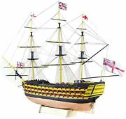 Hms Victory 3d Wooden Puzzle Diy Ship Craft Laser-cut Model Kits To Build For...