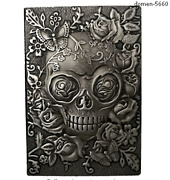 Embossed Leather Travel Journals Vintage Handcraft Embossed Skull Antique Diary