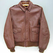 The Real Mccoyand039s Auth A-2 Bomber Flight Jacket Russet Brown 36 From Japan