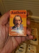 Original Whitman Authors Vintage Card Game All 11 Authors And All 44 Cards