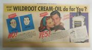 Wildroot Cream-oil Hair Tonic Ad What Can Wildroot Creme Do From 1940's-50's