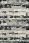 10and039x13and039 Shades Of Grey Machine Woven Abstract Brushstroke Indoor Area Rug