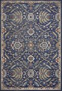 10and039x13and039 Royal Blue Machine Woven Traditional Indoor Area Rug