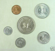 Singapore Coins Set Of 6 Pieces 1969 1980 And 1981 Almost Uncirculated