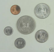 Singapore Coins Set Of 6 Pieces 1974-1981 Almost Uncirculated
