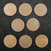 Japan 1 Sen Coin Japanese Taisho And Showa Emperor In Different 8 Years 1919-1937