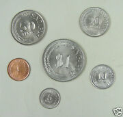 Singapore Coins Set Of 6 Pieces 1979 And 1981 Almost Uncirculated