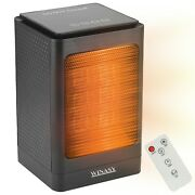 Portable Space Heater, Electric Oscillating Heater Double-overheat Protection
