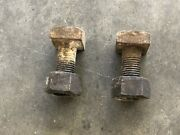 Used Battery Box Support Bolts With Nuts 2 Fits Ih Farmall H Hv Super H W4 Sw4