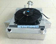 62mm Aluminum Radiator And Shroud And Fan For Triumph Gt6 2.0l 1966-1973 1967 1968