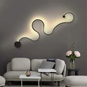 Creative Acrylic Curve Light Snake Led Lamp Nordic Led Belt Wall Sconce For Deco