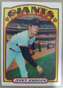 Jerry Johnson 1972 Topps 35 San Francisco Giants In A Top Loader