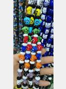 Cute Lampwork Christmas Mittens Socks Glass Spacer Loose Beads Charm 100pcs/lot
