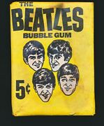 1964 Beatles Black And White Unopened Wax Pack