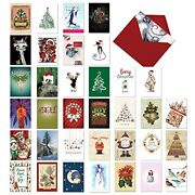 The Best Card Company Season's Best - 36 Boxed Merry Christmas Greeting Cards...
