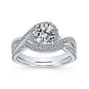 1.10 Ct Round Cut Real Diamond Engagement Ring Set Solid 950 Platinum Size 6 7 8
