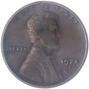 1924 D Lincoln Wheat Cent Very Fine Penny Vf See Pics H802