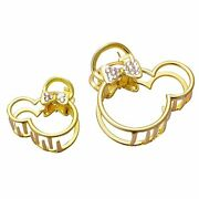 Mickey Mouse Vintage Metal Rhinestone Hair Claw Clips Large Size Imitation Di...