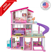 Barbie Girls 3 Storey Doll Dream House Play Set With Accessories Pool Slide