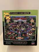 Dowdle 1000 Piece Jigsaw Puzzle Classic Car Show Poster Included