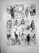 Old Print Messrs Barnum Baileys Olympia Sir Henry Havelock-allan Mp 1898 19th