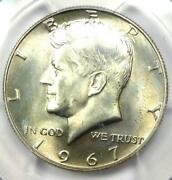 1967 Kennedy Half Dollar 50c Coin - Pcgs Ms67 - Rare In Ms67 - 1500 Value