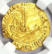 1455 Italy Papal States Gold Ducat Coin - Certified Ngc Au Details - Rare