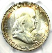 1951 Franklin Half Dollar 50c Coin 1951-p - Certified Pcgs Ms67 - 1300 Value
