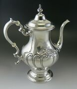 Fine Vintage 1983 Gorham Chantilly Hand Chased Sterling Silver Coffee Pot
